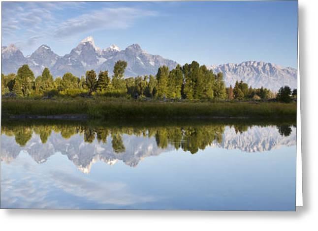 Jackson Hole Greeting Cards - Grand Tetons Panoramic Greeting Card by Dustin K Ryan