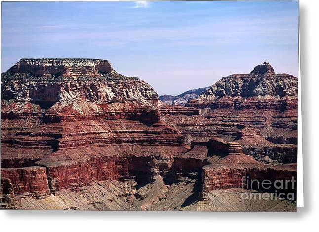 The Grand Canyon Greeting Cards - Grand Twins Greeting Card by John Rizzuto