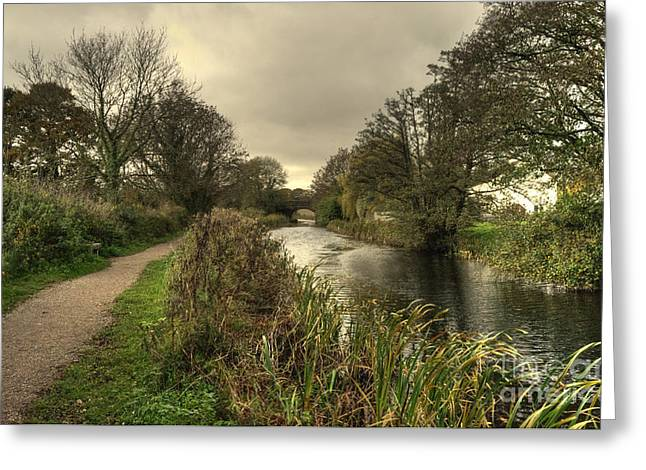 Peverell Greeting Cards - Grand Western Canal at Holbrook Greeting Card by Rob Hawkins
