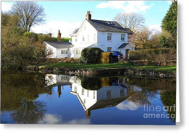 Peverell Greeting Cards - Grand Western Canal at Rock Greeting Card by Rob Hawkins
