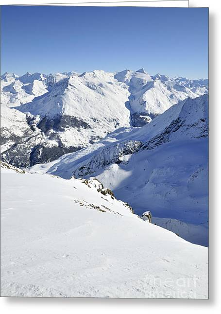 Alps Greeting Cards - Grande Sassiere and Petite Sassiere Greeting Card by Andy Smy