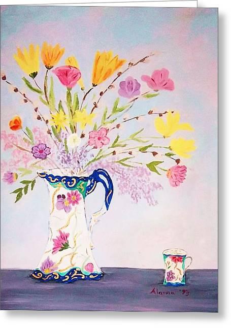 Alanna Hug-mcannally Greeting Cards - Grandmas Chocolate Set Greeting Card by Alanna Hug-McAnnally