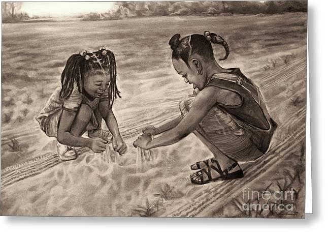 Artist Curtis James Greeting Cards - Grandmas Sand Greeting Card by Curtis James