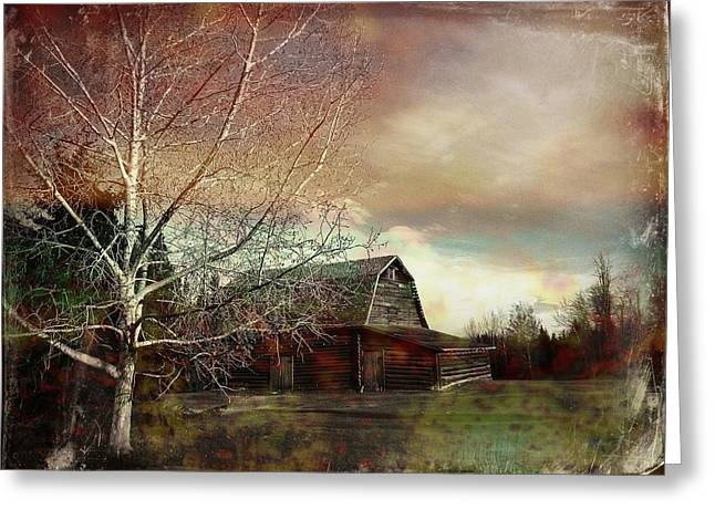 Scenery Greeting Cards - Grandpas Barn Greeting Card by Shirley Sirois
