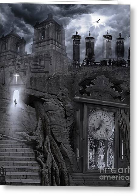 Spirituality Photographs Greeting Cards - Grandpas Clock Greeting Card by Keith Kapple