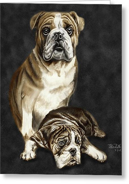 Charcoal Drawing Of Pets Greeting Cards - Grandson of Sampson 2 Greeting Card by Peter Piatt