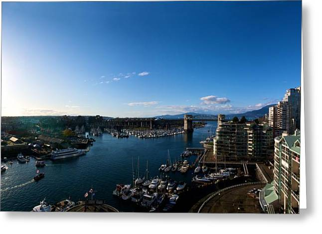 Jeremy Greeting Cards - Grandville Island in Yaletown BC Greeting Card by JM Photography