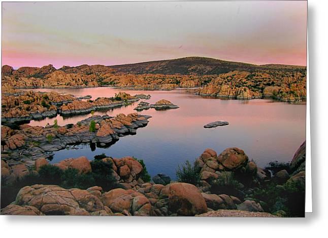 Watson Lake Greeting Cards - Granite Dells at Watson Lake Greeting Card by Ed Golden