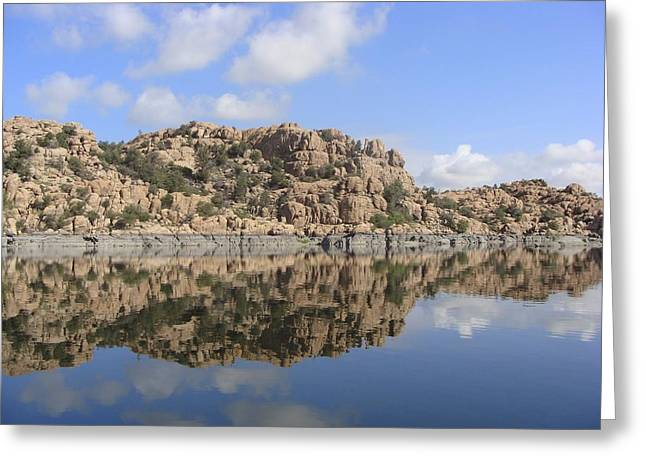 Watson Lake Greeting Cards - Granite Dells Greeting Card by Ramie Liddle