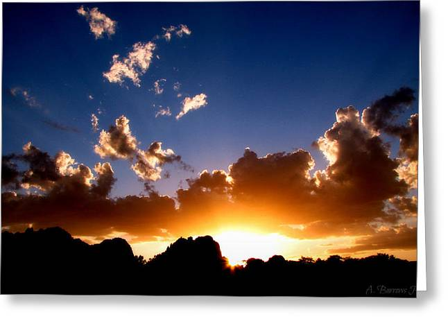 Granite Dells Greeting Cards - Granite Dells Sunset Greeting Card by Aaron Burrows