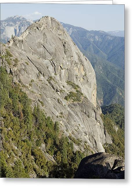 Monolith Greeting Cards - Granite Monolith Moro Rock At The Edge Greeting Card by Rich Reid