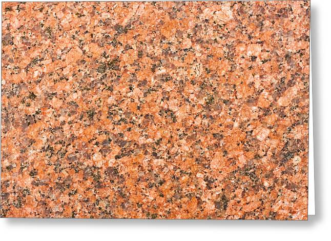 Marble Stone Greeting Cards - Granite Greeting Card by Tom Gowanlock