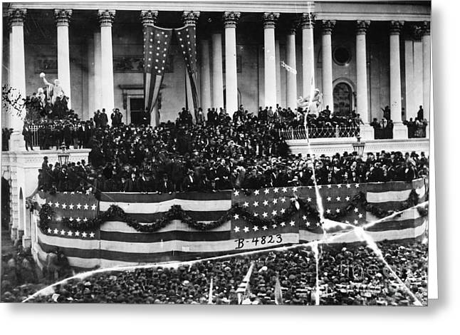 Inauguration Photographs Greeting Cards - Grant Inauguration, 1873 Greeting Card by Granger