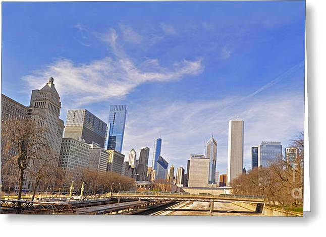 Patrick Willis Greeting Cards - Grant Park Chicago Greeting Card by Dejan Jovanovic