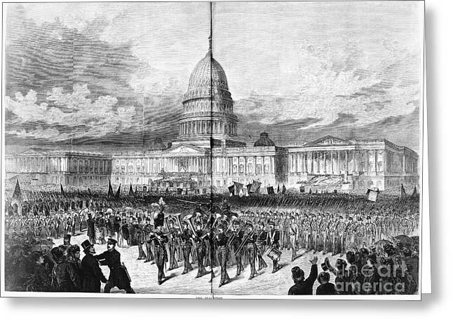 Inauguration Greeting Cards - Grants Inauguration, 1873 Greeting Card by Granger