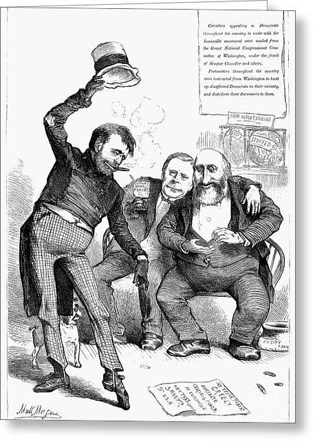 Jeremy Greeting Cards - Grant/tweed Cartoon, 1872 Greeting Card by Granger