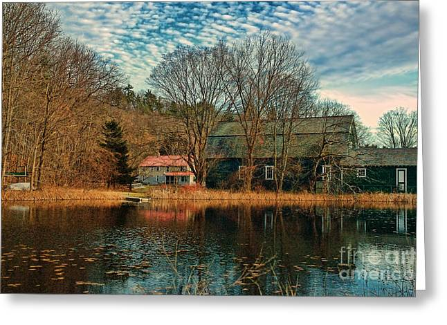Scenic New England Greeting Cards - Granville MA Greeting Card by HD Connelly