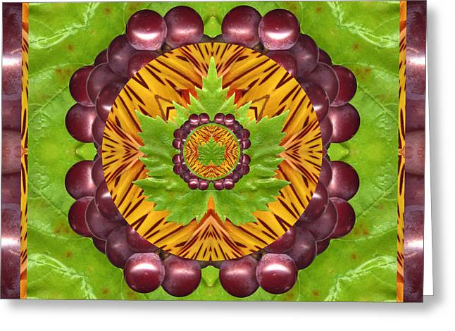 Grape Leaf Greeting Cards - Grape Domain Greeting Card by Bell And Todd