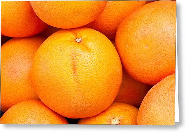 Grapefruit Greeting Card by Tom Gowanlock