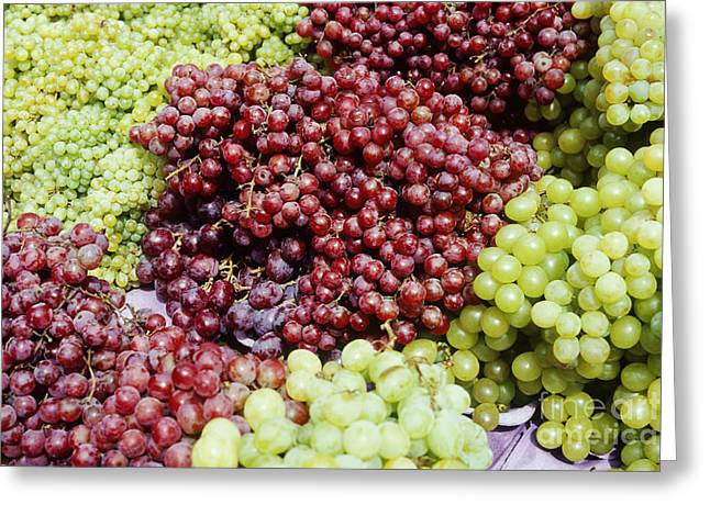Concord Greeting Cards - Grapes at a Market Stall Greeting Card by Jeremy Woodhouse