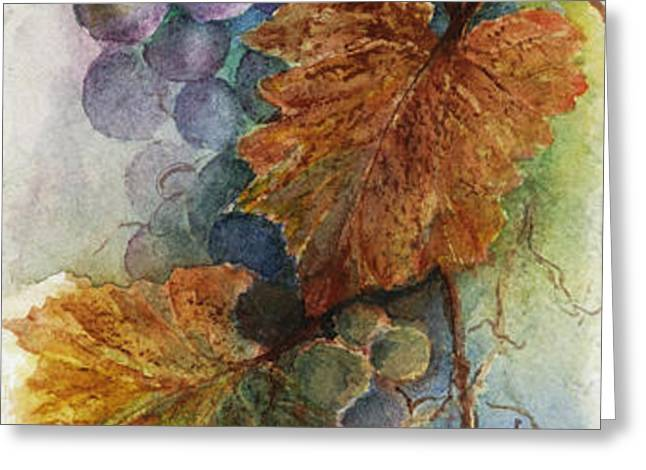 Grapes IV Greeting Card by Judy Dodds