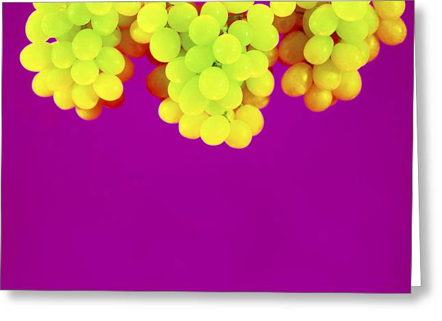 Grapes Greeting Card by Johnny Greig