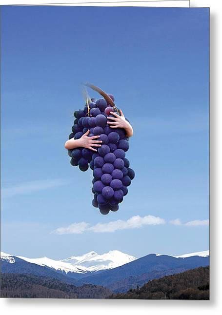 Oniric Greeting Cards - Grapes Greeting Card by Sergio Carlos Spinelli