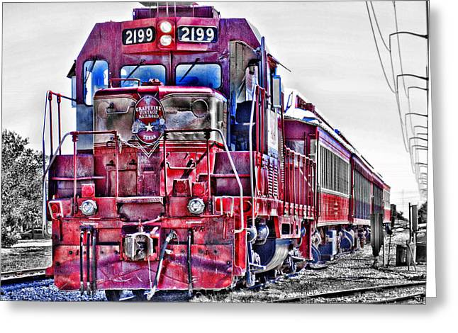 Grapevine Greeting Cards - Grapevine Vintage Railroad-Texas Greeting Card by Douglas Barnard