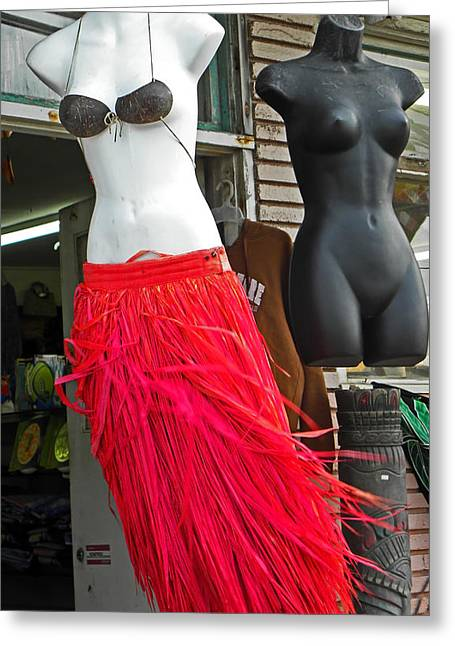 Red Skirt Greeting Cards - Grass Skirts for Sale Greeting Card by Elizabeth Hoskinson