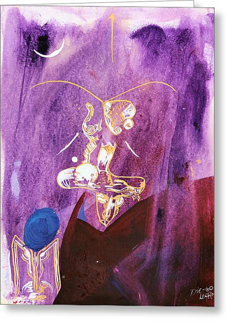 Grasshopper Paintings Greeting Cards - Grasshopper Greeting Card by Die Go Learn