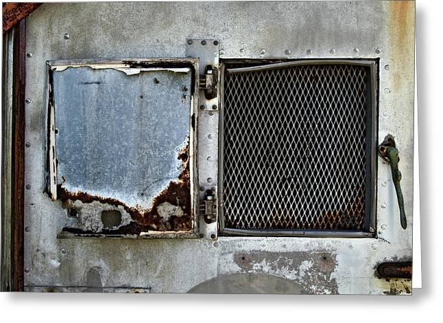 Grate Greeting Cards - Grated Door Greeting Card by Murray Bloom