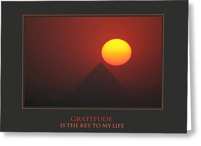 Affirmation Greeting Cards - Gratitude Is The Key To My Life Greeting Card by Donna Corless