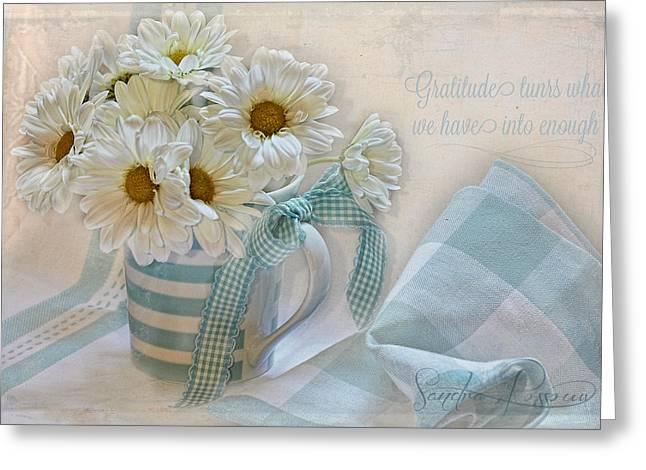 Gratitude Greeting Card by Sandra Rossouw