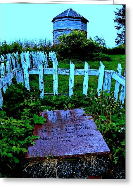 Alaskan Architecture Greeting Cards - Grave Situation 1 Greeting Card by Randall Weidner