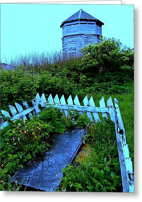 Alaskan Architecture Greeting Cards - Grave Situation 2 Greeting Card by Randall Weidner