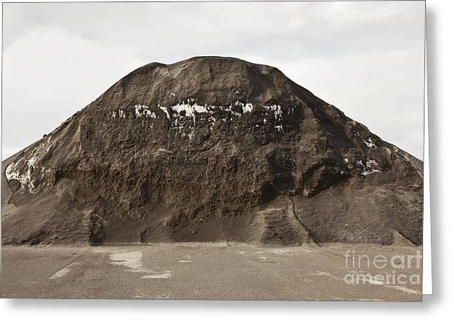 Dirt Pile Greeting Cards - Gravel Mound Greeting Card by Paul Edmondson