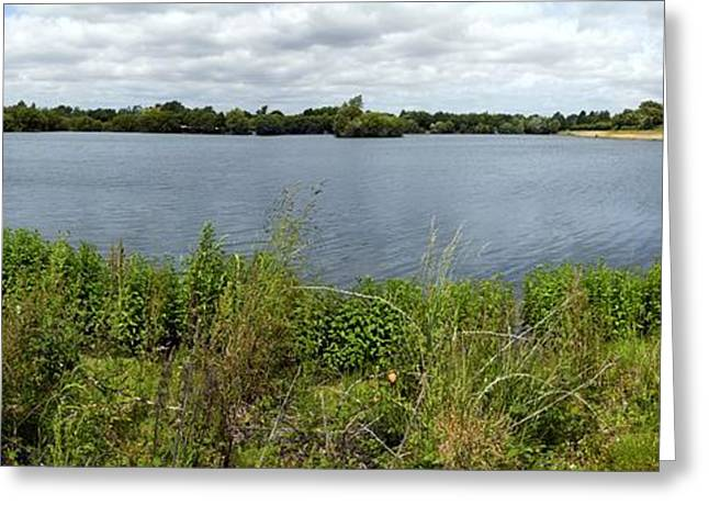 Biological Greeting Cards - Gravel Pit Pond Greeting Card by Dr Keith Wheeler