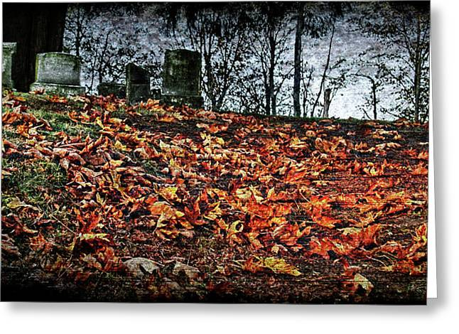 Headstones Digital Art Greeting Cards - Graves  Greeting Card by DMSprouse Art
