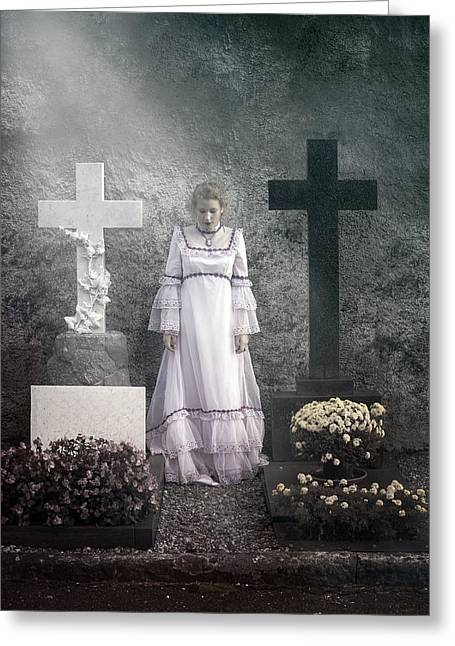 Wedding Garment Greeting Cards - Graves Greeting Card by Joana Kruse
