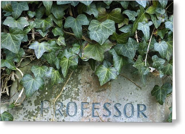 Overgrown Greeting Cards - Gravestone Greeting Card by Matthias Hauser