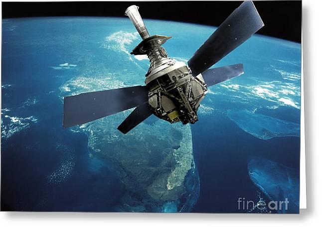 Warp Greeting Cards - Gravity Probe B Satellite Greeting Card by NASA / Science Source