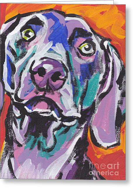 Weimaraners Greeting Cards - Gray Ghost Greeting Card by Lea