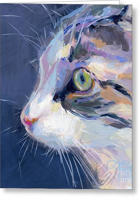 Kitten Greeting Cards - Gray Greeting Card by Kimberly Santini