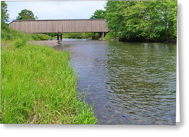 Best Sellers -  - Old Roadway Greeting Cards - Grays River Covered Bridge Greeting Card by Ansel Price