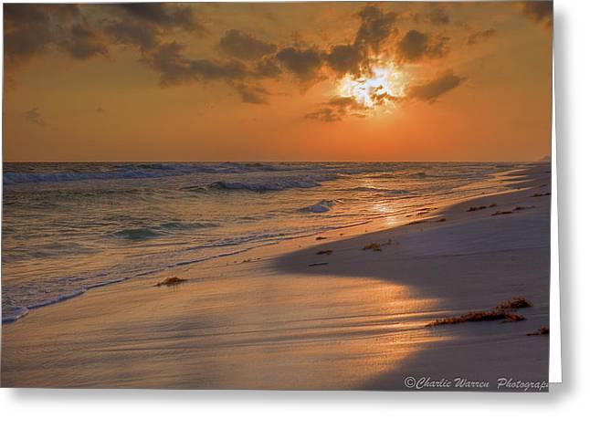 Grayton Beach Sunset 7 Greeting Card by Charles Warren