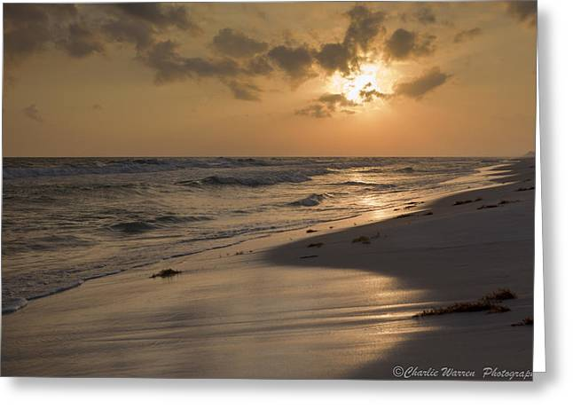 Grayton Beach Sunset Greeting Card by Charles Warren
