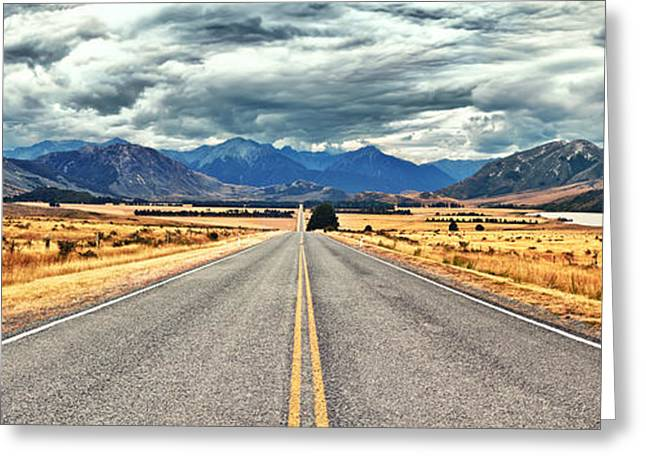 Scenic Drive Greeting Cards - Great Alpine highway Greeting Card by MotHaiBaPhoto Prints