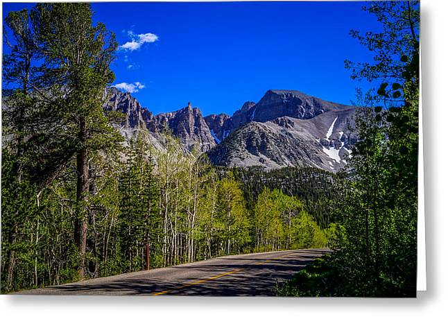 Scenic Drive Greeting Cards - Great Basin National Park Wheeler Peak Greeting Card by Scott McGuire