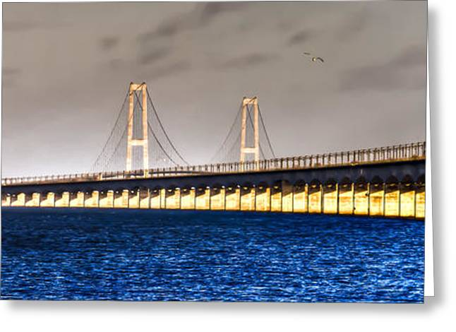 Hdri Greeting Cards - Great Belt Bridge Greeting Card by Gert Lavsen