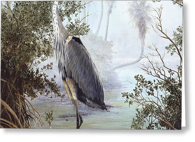 Great Blue Heron Greeting Card by KEVIN BRANT